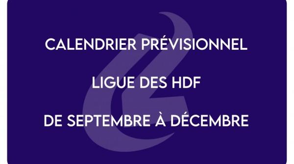 Calendrier prévisionnel de la Ligue HDF JUDO