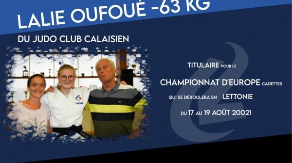 Lalie OUFOUÉ, titulaire pour le championnat d'Europe Cadets